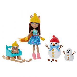 Mattel Enchantimals - Coffret Histoire Sharlotte et Nutsy - Mini-poupé