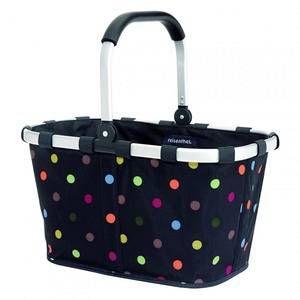 Reisenthel Panier pliant Carrybag noir à pois colorés 48x29x28 cm