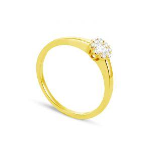 Rêve de diamants 3612030094439 - Bague en or jaune sertie de diamants