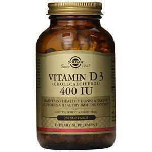 Solgar Vitamine D3 400 UI (10mcg) 250 Gélules