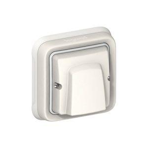 Legrand Sortie de câbles complet encastré blanc avec serre câble PLEXO 069888