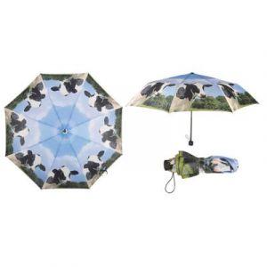 Esschert design Parapluie pliant Vache 100x57.5cm 190T Polyester, Métal et PP