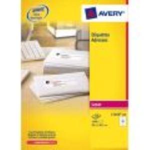 Avery-Zweckform L7164-100 - Boîte de 1200 étiquettes adresses laser (6,35 x 7,2 cm)