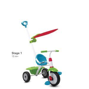 SmarTrike Tricycle Fun Plus - Bleu-Vert-Rouge