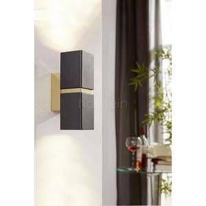 Eglo Applique murale PASSA LED Noir, Or, 2 lumières - Moderne - Intérieur - PASSA