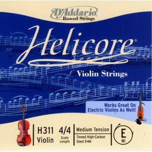 D'Addario Helicore violon 4/4 corde de mi medium/acier plein