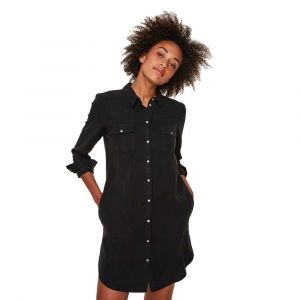 Vero Moda NOS Vmsilla Ls Short Dress Blck Noos GA Robe, Noir Black, 38 (Taille Fabricant: Small) Femme