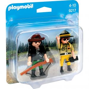 Playmobil 9217 Wild Life - Duo Pack garde forestier et braconnier