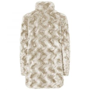 Vero Moda NOS Vmcurl High Neck Faux Jacket Noos Blouson, Écru Oatmeal, 36 (Taille Fabricant: X-Small) Femme
