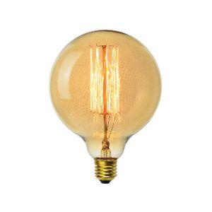 Vito-lighting Ampoule décoart incandescente vintage Edison G125 sphère 40W E27 2350K