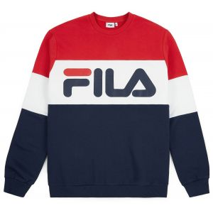 FILA Straight Blocked Crew Sweat - MARINE - homme - SWEAT SHIRT