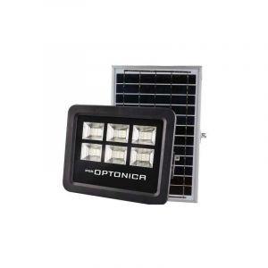 Optonica Projecteur LED Solaire Noir Équivalent 150W 2900lm Blanc Jour 6000K