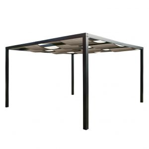 Leco Tonnelle pergola Loft textilène et aluminium - Cachemire