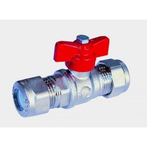 sferaco Vanne à sphère laiton 670 pour tube cuivre Raccords chromés sphéro-conique Male / Male Diamètre 14 mm
