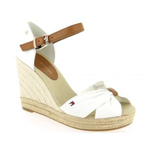 Tommy Hilfiger Sandales BASIC OPENED TOE HIGH WEDGE - Couleur 37,38,39,41 - Taille Blanc