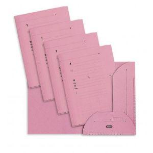 Elba 100090071 - Sous-dossier OAZ chemise HV 2 rabats, lot de 25, A4 kraft rose