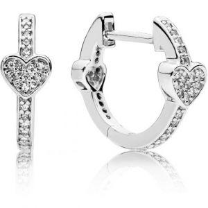 Pandora Boucles d'oreilles 297290CZ - Boucles d'oreilles Coeurs Séduisants Femme