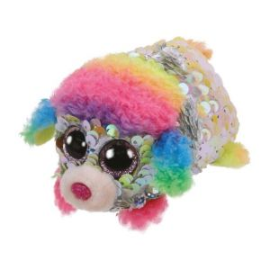 Jura Teeny Ty sequins - Peluche Rainbow le caniche 8 cm