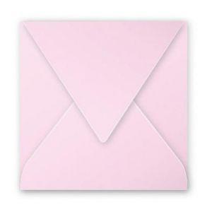 Clairefontaine 12013C - Enveloppe Pollen 120x120, 120 g/m², coloris rose dragée, en paquet cellophané de 20