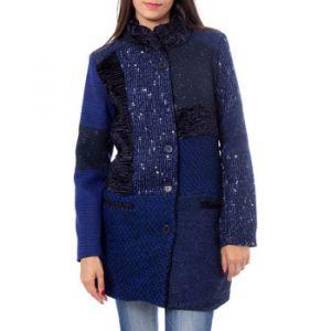 Desigual Manteau boutonné à imprimé fantaisie Bleu - Taille 36