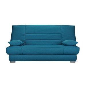 Banquette-lit clic-clac 130cm mousse HD 28kg motif bleu canard