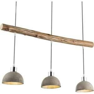 Globo Lighting Suspension en nickel mat 105x15x85 cm Bois - Suspension nickel mat - Bois - LxWxH:850x150x1050 - Ampoule non incluse 3xE27 40W 230V