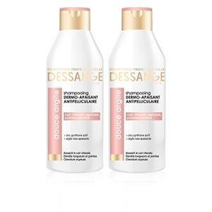 Jacques Dessange Argile Rose Shampooing Antipelliculaire Dermo-Apaisant pour Cuir Chevelu Agressé/Pointes Sèches 250 ml