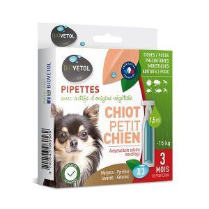 Biovetol Pipettes insectifuges chiot et petit chien 3x2ml