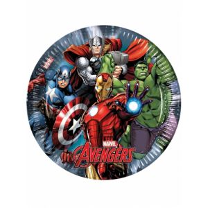 8 assiettes en carton Avengers Power (23 cm)