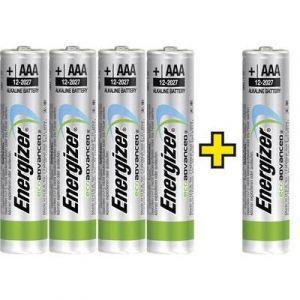 Energizer Pile LR03 (AAA) alcalines Eco-Advanced 4 +1 gratis 1.5V x5