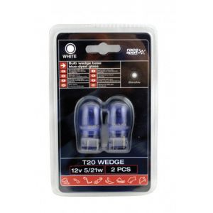 2 Ampoules T20 - 12V - 21W - Wedgebase - Blanc