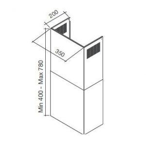 Falmec KCQAN003 - Kit cheminée évacuation pour hotte