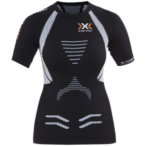 X-Bionic Running Femme Adulte imperméable The Trick t-Shirt SH SL Ow L Multicolore - Noir/Blanc