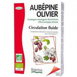 Biotechnie Compléments Alimentaires aupébine olivier bio circulation fluide