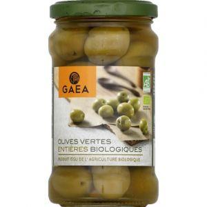 Gaea Olives vertes entières biologiques