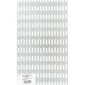 Outibat Grille de rechange métal déployé - 144 pointes - Dimensions 15 x 20 cm