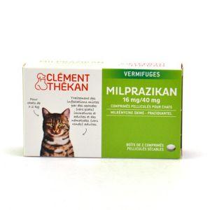 Clément Thékan Milprazikan 16 mg/40 mg pour chat