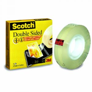 Scotch D6651222 - Ruban adhésif double face 665, transparent, 12 mm x 22,8 m