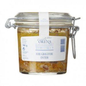Les Délices de Saint Orens Foie gras d'oie entier au naturel des Landes, Bocal 180 gr