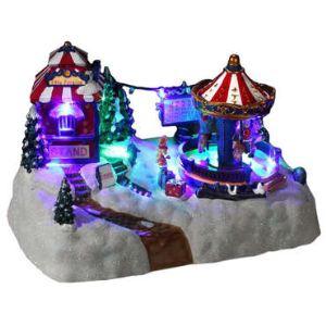 Village de Noël lumineux : Caroussel Magique