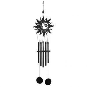 LG Carillon décor soleil en acier, H 99 X Ø 25 cm