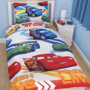 Character World Disney Cars 2 - Housse de couette et taie (140 x 200 cm)