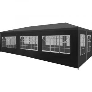 VidaXL Tente de réception 3 x 9 m Anthracite