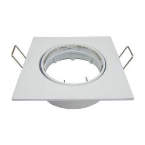 Eclairage design Support spot LED orientable carré D82 Blanc