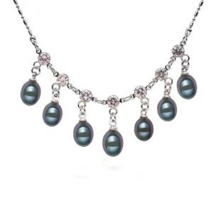 Blue Pearls Bps 1006 O - Collier de perles de culture