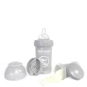 Twistshake Twist shake Bouteille anti-colic 180 ml pastel l gris Gr. 125ml-250ml