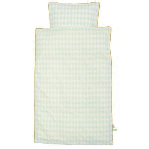 Ferm Living Harlequin - Housse de couette et taie en coton bio (140 x 200 cm)