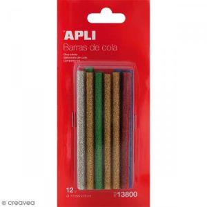 APLI 13800 - Blister de 12 bâtons de colle thermofusible diam. 7,5mm