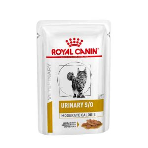 Royal Canin Veterinary Diet Cat Urinary S/O Moderate Calorie morceaux 12 x 85 g