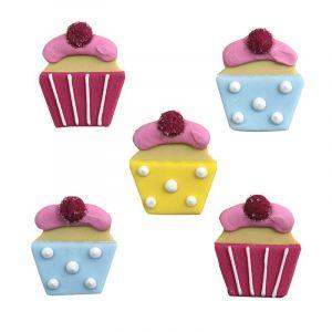 5 Cupcakes En Pâte À Sucre